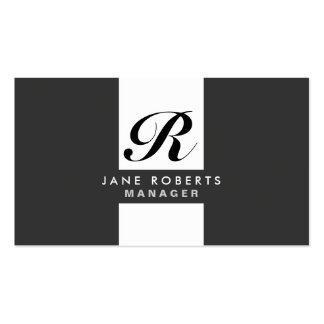 Monogram Professional Elegant Cosmetologist Makeup Business Cards