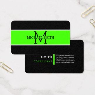Monogram Professional Harlequin Modern Business Card