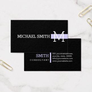 Monogram Professional Plain Black Modern Soap Business Card