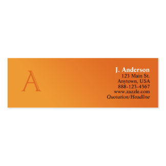 Monogram Profile Card (A) Mini Business Card