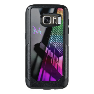 Monogram Psychedelic Bass Guitar Music OtterBox Samsung Galaxy S7 Case