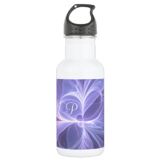 Monogram Purple Abstract Modern Fractal 532 Ml Water Bottle