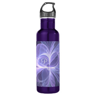 Monogram Purple Abstract Modern Fractal 710 Ml Water Bottle