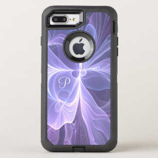 Monogram Purple Abstract Modern Fractal OtterBox Defender iPhone 7 Plus Case
