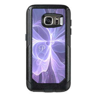 Monogram Purple Abstract Modern Fractal OtterBox Samsung Galaxy S7 Case