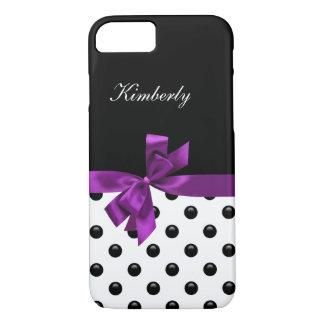 Monogram Purple Bow iPhone 7 Case