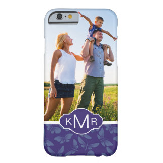 Monogram | Purple Butterflies Barely There iPhone 6 Case