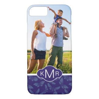 Monogram | Purple Butterflies iPhone 8/7 Case