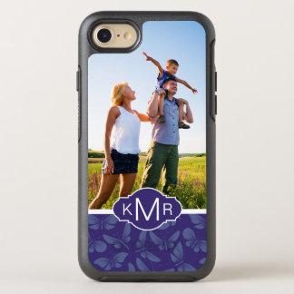 Monogram | Purple Butterflies OtterBox Symmetry iPhone 8/7 Case