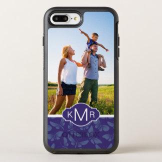 Monogram | Purple Butterflies OtterBox Symmetry iPhone 8 Plus/7 Plus Case