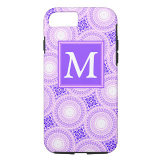Monogram purple circles pattern Case-Mate iPhone case