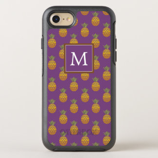 Monogram | Purple & Copper Pineapples OtterBox Symmetry iPhone 8/7 Case
