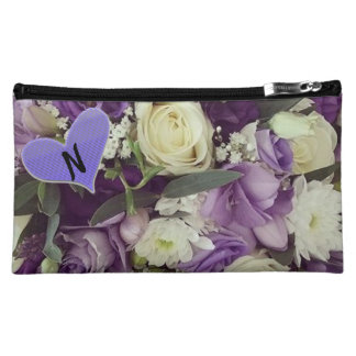 Monogram Purple Floral Make-Up Case