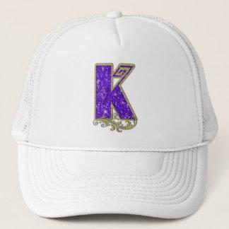 Monogram Purple K Trucker Hat