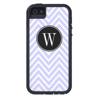 Monogram Purple Lilac Chevron Zig Zag Pattern iPhone 5 Cases