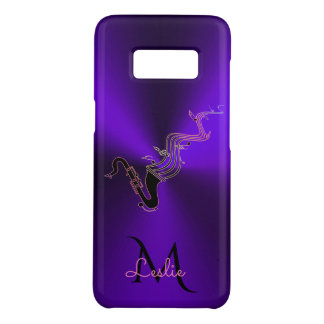Monogram Purple Metallic Saxophone Case-Mate Samsung Galaxy S8 Case