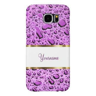 Monogram Purple Raindrops Samsung Galaxy S6 Cases