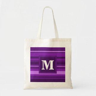 Monogram purple stripes