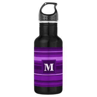 Monogram purple stripes