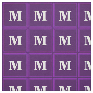 Monogram purple stripes fabric