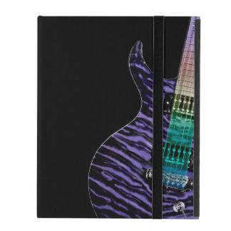 Monogram Purple Tiger Stripe Electric Guitar Music iPad Cover