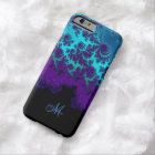 Monogram Purple Turquoise Fractal iPhone 6 Case