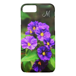 Monogram Purple Wildflowers Meadow iPhone 7 Case