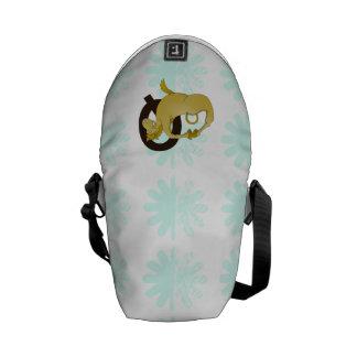 Monogram Q Cartoon Pony Customized Messenger Bag