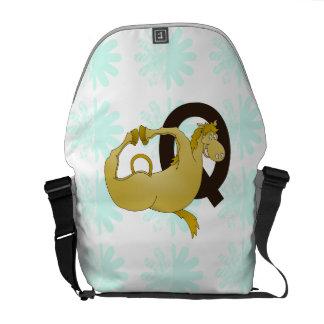 Monogram Q Cartoon Pony Customized Messenger Bags