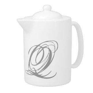 Monogram Q Teapot