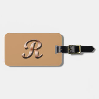 Monogram R Luggage Tag