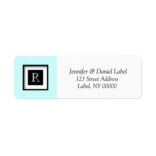 Monogram R Personalized Return Address Label