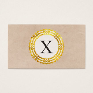 Monogram Radial | Gold Business Card
