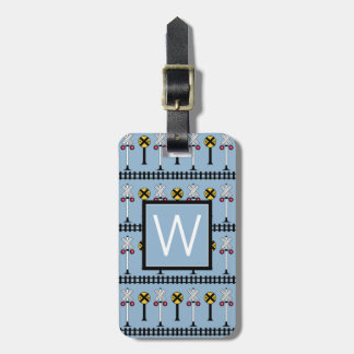 Monogram | Railroad Tracks & Signs Luggage Tag