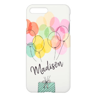 Monogram. Rainbow Balloons Illustration. iPhone 8 Plus/7 Plus Case