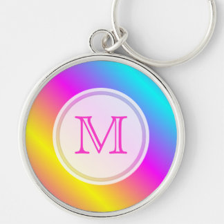 Monogram: Rainbow Keychain