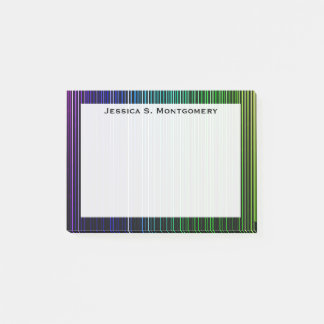 Monogram Rainbow Light Stripes Post-it Notes