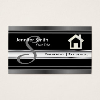 Monogram Real Estate Professional Agent Business Card