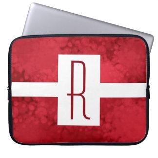 Monogram Red Speckled Laptop Sleeve