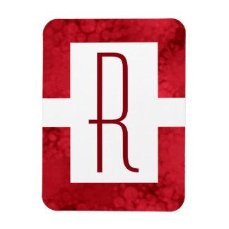 Monogram Red Speckled Magnet