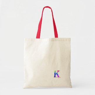 Monogram Red White Canvas Bag