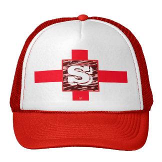 Monogram Red Zebra Hat