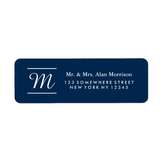 Monogram Return Address Label 3
