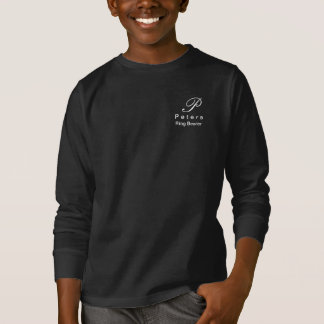 Monogram Ring Bearers Shirt for Youth Boys