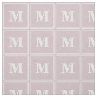 Monogram rose quartz stripes fabric