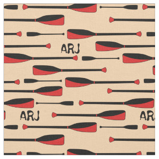 Monogram Rowing Oars Red Fabric
