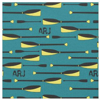 Monogram Rowing Oars yellow and black Fabric