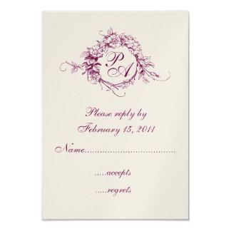 Monogram RSVP Card