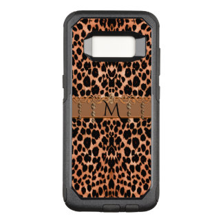Monogram Rustic Leopard Print OtterBox Commuter Samsung Galaxy S8 Case