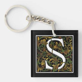 Monogram S Acrylic Key Chain